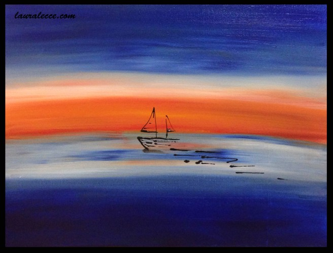 He Dreams of Sailing - Art by Laura Lecce