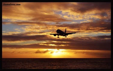 Sunset on Maho Beach