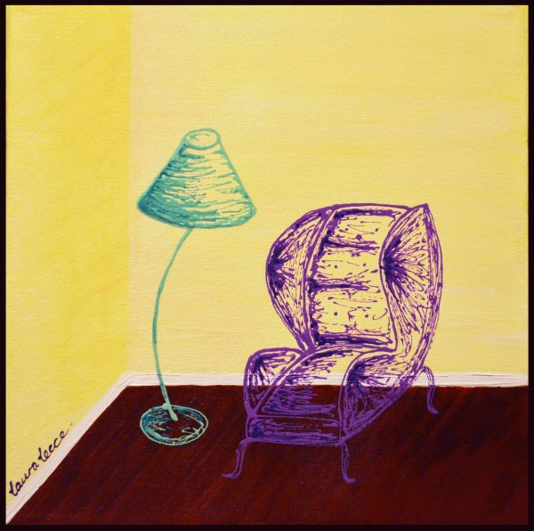 The Reading Chair - Art by Laura Lecce